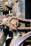 Old parts of rusty industrial machinery closeup Stock Photo