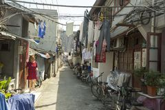 Old street in Shanghai, China Stock Photos