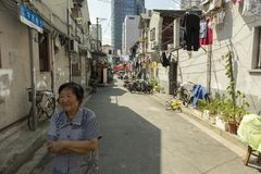 Old street in Shanghai, China Stock Images