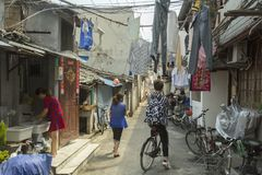 Old street in Shanghai, China Royalty Free Stock Photography