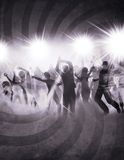 Old party. Party poster with people in retro style Royalty Free Stock Photos