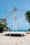 Old party stage at Haad Rin, Koh Pha Ngan Royalty Free Stock Photo