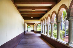 Old Passage. With arches and roman pillars Royalty Free Stock Image