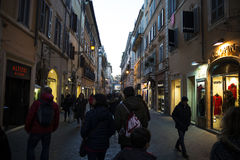 Old passage at night in Rome Royalty Free Stock Photos