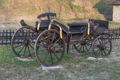 Old passenger cart. Serbian old wooden passenger cart Royalty Free Stock Photography