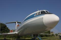 Old passenger plane. Old soviet jet plane TU-134 Stock Photo