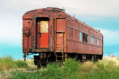 Old passenger railcar Stock Photos