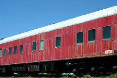 Old passenger train car Stock Images
