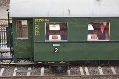 Old passenger wagons Stock Photo