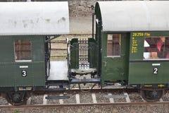 Old passenger wagons Stock Image