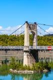 Old Passerelle du College bridge over Rhone river in Lyon, Franc Stock Photography