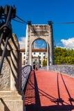 Old Passerelle du Universiteitsbrug over de rivier van de Rhône in Lyon, Frankrijk Royalty-vrije Stock Foto's