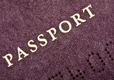 Old Passport Front Cover Stock Photography