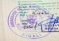 Old passport stamp Stock Photo