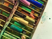 Old pastels Stock Photography