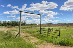 Old pasture gate Royalty Free Stock Image