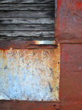 Old Patched Metal Abstract. Stock Images