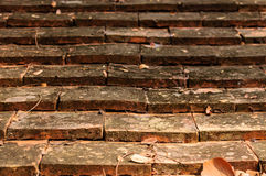 Old Path. A pathway of ancient bricks Royalty Free Stock Photo