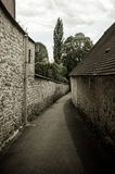 Path between stone houses Royalty Free Stock Photos