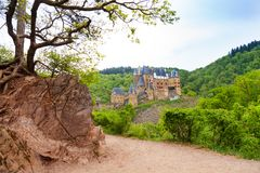 Old path to Eltz castle in Germany Royalty Free Stock Photos
