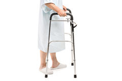 An old patient using a walker Royalty Free Stock Photography