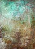 Old patina metal grunge background. Old weathered patina metal background in cyan and brown sepia tones Stock Image