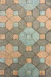 Old patio paving stone Royalty Free Stock Photography