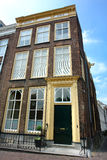 Old patrician house in Holland downtown. Royalty Free Stock Photos