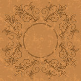 Old pattern - dark vintage vector background Royalty Free Stock Photos
