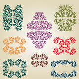 Old pattern decor calligraphy Stock Photography