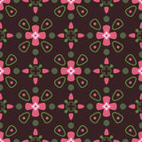 Old pattern. Seamless pattern with dark background and decorate elements Royalty Free Stock Photography
