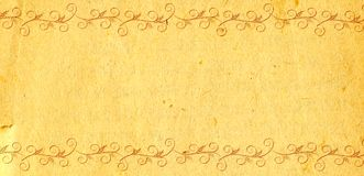 Old pattern on a sheet Royalty Free Stock Images