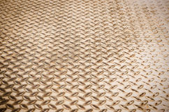 Old pattern style of steel floor Stock Images