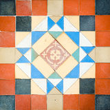 Old Pattern Tiles. 200 Years Old Pattern Tiles Found At Palace In Thailand stock images