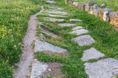 Old paved road Royalty Free Stock Images