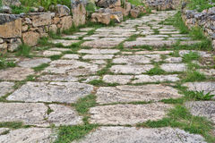 Old paved road Royalty Free Stock Photo