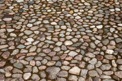 Old paved roadway Stock Images