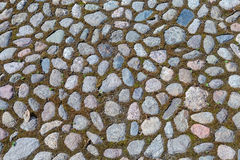 Old paved roadway. As background Royalty Free Stock Photography
