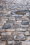 Old pavement after the rain Royalty Free Stock Photos