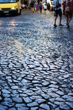 Old pavement in a street Stock Image