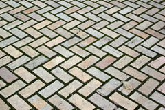 Old pavement - zigzag pattern Stock Images
