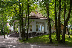 The old pavilion in the city Park of the city of Svetlogorsk. Royalty Free Stock Photography