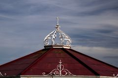 Old Pavilion Roof at St.Andrews Scotland. Roof of old pavilion building at St.Andrews Scotland royalty free stock photos