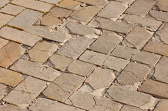 Old paving slab Stock Images