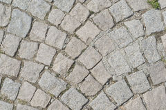 Old paving stone block road Royalty Free Stock Images
