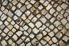 Old paving stones abstract background Royalty Free Stock Photos