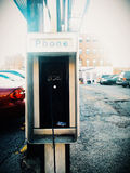 Old payphone at Lexington Market, Baltimore, Maryland. Stock Photography