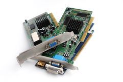 Old PC video card for computer Royalty Free Stock Photos