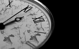 Old pcket watch close-up Royalty Free Stock Images