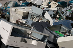 Old PCs recycling Stock Photo